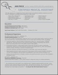 Medical Resume Objective Nice Medical Assistant Resume Skills