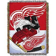 Red Wings Throw Blanket