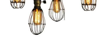 cage lighting. How To: Make DIY Vintage-Style Cage Lights | Man Made Crafts For Men Lighting