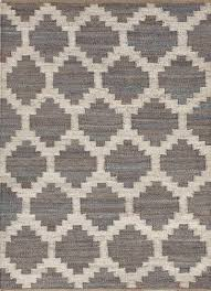 natural moroccan pattern gray ivory hemp area rug earth diamond natural