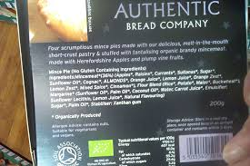 The Authentic Bread Company Luxury Mince Pies Ingredients Vegan Womble