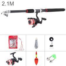 2 1m 2 4m 2 7m 3 0m fishing rod reel line set