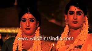 straight men dress up as women here in india as a fertility prayer chamayavilakku you