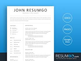 Clean Professional Resume Hebe Clean And Professional Resume Template Resumgo Com