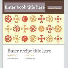 Recipe Book Cover Template Free Create Cookbook Divider Templates