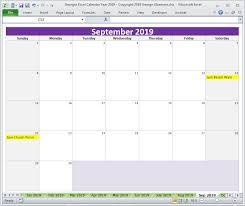 Georges Excel Calendar Year 2019 Excel Calendar Excel