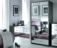 glass bedroom furniture black mirrored gold rectangle shape high wooden wardrobe bedr