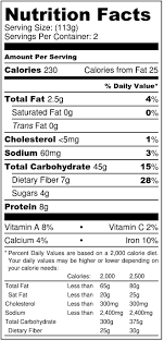 view nutrition facts