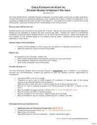 Resume Example For Nurses New Grad Nurse Cover Letter Within