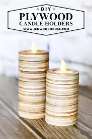 Diy Tea Light Candle Holders Diy Scrap Plywood Tea Light Candle Holders