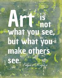 Famous Artist Quotes Simple Art Quote Famous Artist Degas Typography By Theartofobservation