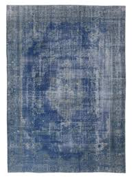 7x10 blue overdyed rugs 930