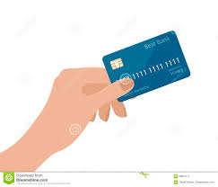 Credit Card Templates For Sale Hand Holding Credit Card Vector Illustration Isolated On White