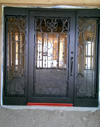 wrought iron entry doors with side lights scottsdale az
