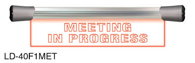 Sonifex Ld 40f1met Illuminated Sign Meeting In Progress Led Single