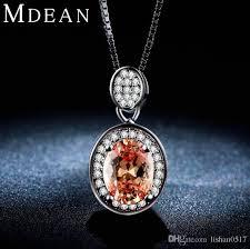 3ct white gold plated necklace pendants for women amber jewelry aaa zircon cz diamond wedding luxury pendant amsn007 sapphire necklace enement wedding