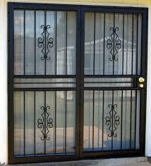 sliding glass door burglar bars
