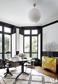 interior design for home office. painteru0027s canvas is used as paneling in the office of fashion designer stefano pilatiu0027s paris apartment interior design for home p