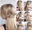 Простые причёски для средних волос своими руками видео