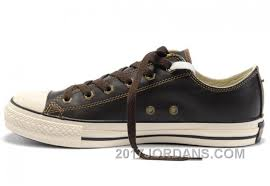 brown leather converse all star overseas edition tops shoes free