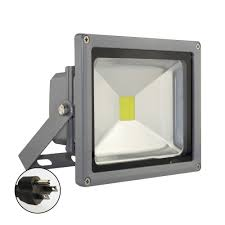 zitrades 20w cool white led flood light waterproof outdoor spotlight with us 3 plug