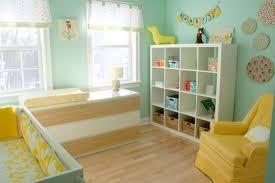 Gender-neutral, aqua and yellow nursery