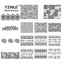 YZWLE 42 Sheets DIY Decals Nails Art Water Transfer <b>Printing</b> ...