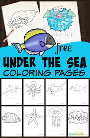 Reading, writing, coloring, cutting, pasting, and ocean themed crafts for kids | a night owl blog. Free Fish Coloring Pages For Kids