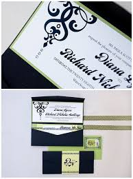 98 best black invitations images on pinterest wedding reception Crystal Wedding Invitation Frame diana nick green and black crystal wedding invitations Rhinestone Wedding Invitations
