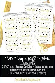 raffle sign printable diaper raffle tickets sign for baby shower black white