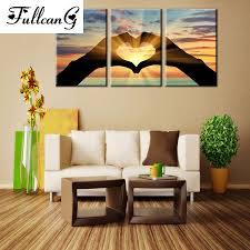 <b>FULLCANG</b> setting sun love <b>triptych</b> mosaic needlework <b>diy</b> ...