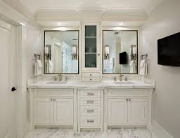 black and white bathroom furniture. Black Framed Mirrors And Off White Vanity Cabinets With Tops For Small Bathroom Ideas Marble Floor Tiles Furniture W