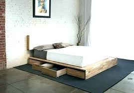 High Platform Bed Frame Queen Tall Cool Twin Profile Low Lo – pushka ...