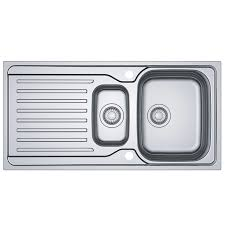 franke antea azn 651 snless steel reversible 1 5 bowl kitchen sink and waste at ship it appliances