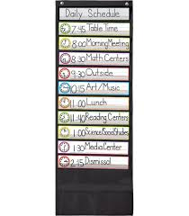 Where To Buy Pocket Charts Deluxe Scheduling Black Pocket Chart