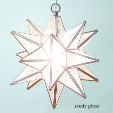glass moravian star light fixture
