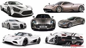 Top 10 Fastest Cars in The World with Top Speed | Rushlane
