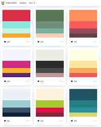 Colour Swatches For Designers Color Palettes For Designers And Artists Color Hunt Is A