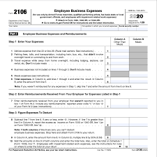 form 2106 employee business expenses