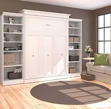 This pull-out Queen Wall Bed is a must-have for anyone wanting to  redecorate their room. With plenty of display shelving to fill with your  pictures, books, ...