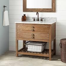 Wood Vanity Bathroom 36 Benoist Reclaimed Wood Vanity For Undermount Sink Pine
