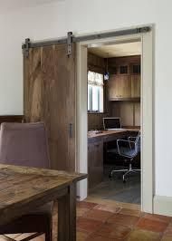 office barn doors. Arched Barn Door Home Office Rustic With Dark Wood Cabinets Tilt Control Doors