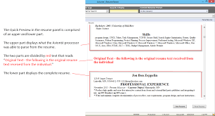 ... Free Resume Parsing software Inspirational Resume Parse Quick Preview  16 2 and Newer  Support Center ...