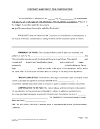 Simple Work Contract Agreement New 5 Simple Contractor ...