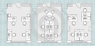 floor plan office furniture symbols. Standard Office Furniture Symbols On Floor Plans Cartoon Vector Plan