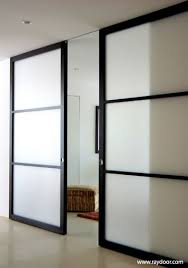 interior barn doors contemporary frosted glass barn. Warm Modern Sliding Doors [ CLICK HERE! ] Specialtydoors.com | #modern # Interior Barn Contemporary Frosted Glass L