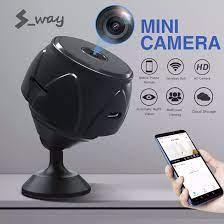 Camera Thông Minh Mini S-way, Camera Hồng Ngoại Nhìn Đêm Hình Hoa Sen Nhỏ  Gia Đình Mạng Không Dây Wifi, Hỗ Trợ 128G Với Khối Nam Châm Mạnh