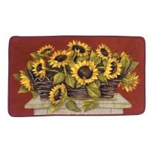 sunflower kitchen rugs stylish sunflower kitchen rugs exciting essential home basket rug in sunflower kitchen rugs