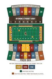 University Of Wyoming Football Stadium Seating Chart Dallas Cowboys Seating Chart Exhaustive Cowboy Stadium Seat Map