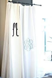 creative ideas monogrammed shower curtain matouk liner